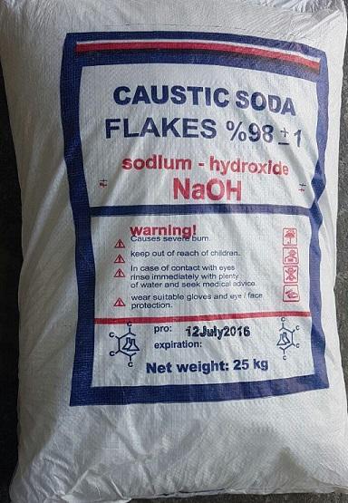 caustic in 25 kg sacks